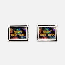 Happy New Year Rectangular Cufflinks