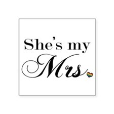She's My Mrs. Sticker
