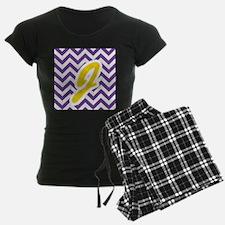 Purple Chevron - Gold J Pajamas
