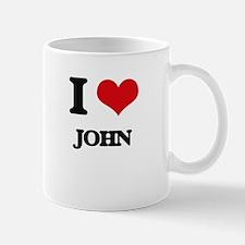 I Love John Mugs