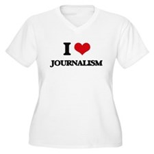 I Love Journalism Plus Size T-Shirt