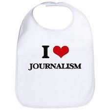 I Love Journalism Bib