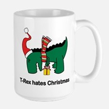 T-rex hates Christmas Mugs