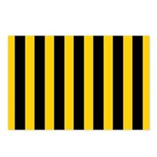 Black And Yellow Stripes Postcards (Package of 8)