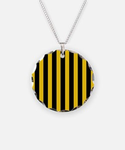 Black And Yellow Stripes Necklace