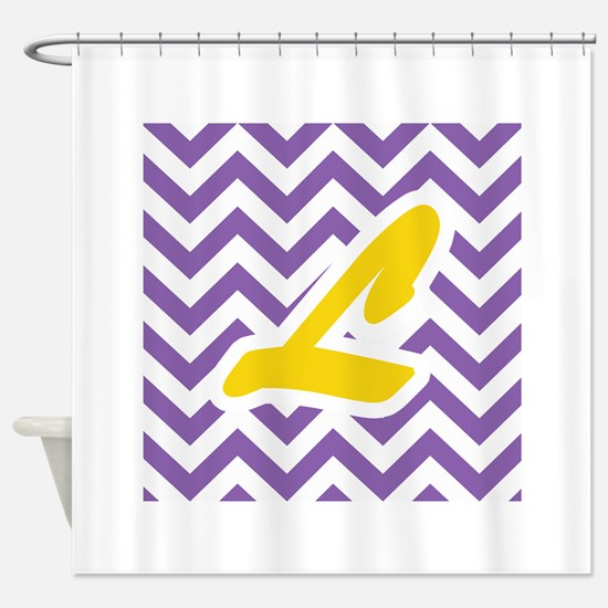 purple and gold shower curtain. Purple Chevron  Gold L Shower Curtain And Bathroom Accessories Decor CafePress
