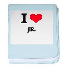 I Love Jr. baby blanket