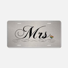 Mrs. Lesbian Design Aluminum License Plate