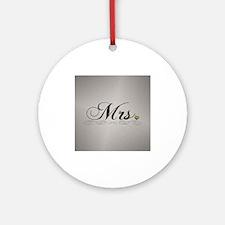 Mrs. Lesbian Design Round Ornament