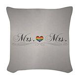Mrs mrs Woven Pillows