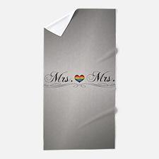 Mrs. & Mrs. Lesbian Design Beach Towel
