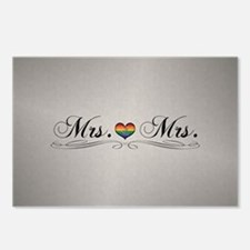 Mrs. & Mrs. Lesbian Desig Postcards (Package of 8)