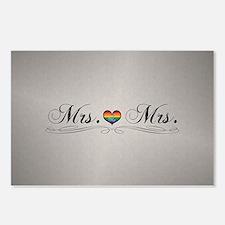 Mrs. & Mrs. Lesbian Desig Postcards (Package of 8)
