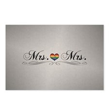 Mrs. & Mrs. Lesbian Pride Postcards (Package of 8)