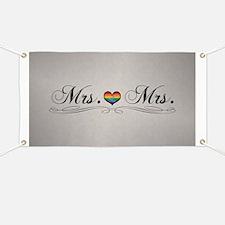 Mrs. & Mrs. Lesbian Design Banner