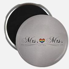 Mrs. & Mrs. Lesbian Design Magnet