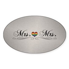 Mrs. & Mrs. Lesbian Design Decal