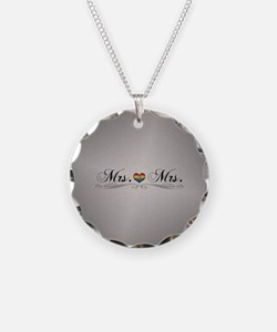 Mrs. & Mrs. Lesbian Design Necklace