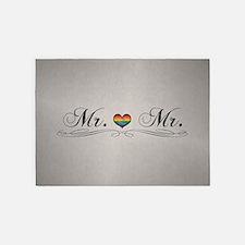 Mr. & Mr. Gay Design 5'x7'Area Rug