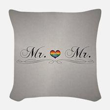 Mr. & Mr. Gay Design Woven Throw Pillow