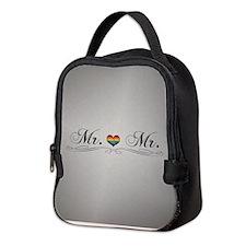 Mr. & Mr. Gay Pride Neoprene Lunch Bag