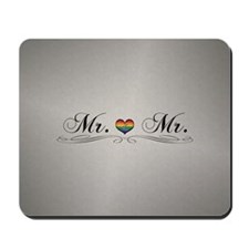 Mr. & Mr. Gay Pride Mousepad
