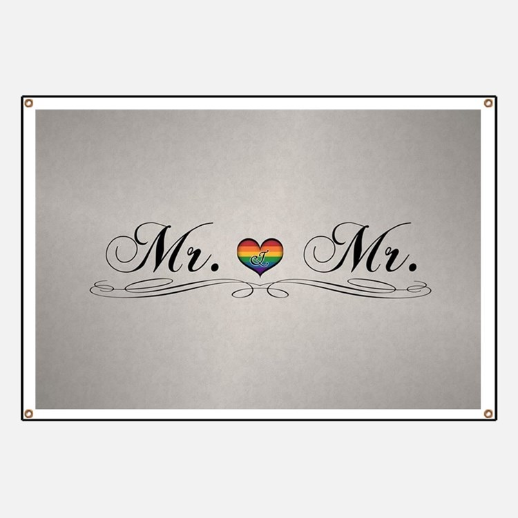 Mr. & Mr. Gay Design Banner