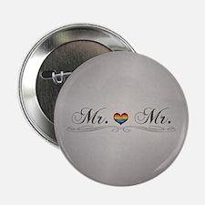 "Mr. & Mr. Gay Design 2.25"" Button (10 pack)"