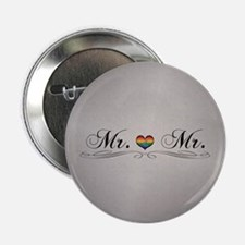 "Mr. & Mr. Gay Design 2.25"" Button (100 pack)"