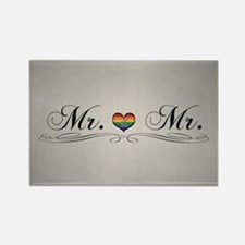 Mr. & Mr. Gay Design Rectangle Magnet