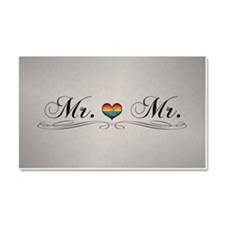Mr. & Mr. Gay Pride Car Magnet 20 x 12