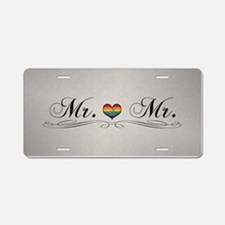 Mr. & Mr. Gay Design Aluminum License Plate