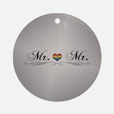 Mr. & Mr. Gay Design Round Ornament
