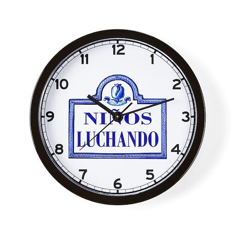 Niños Luchando, Granada - Spain Wall Clock