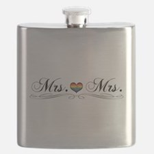 Mrs. & Mrs. Lesbian Design Flask