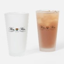 Mrs. & Mrs. Lesbian Design Drinking Glass