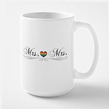 Mrs. & Mrs. Lesbian Design Large Mug