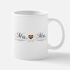 Mrs. & Mrs. Lesbian Design Mug