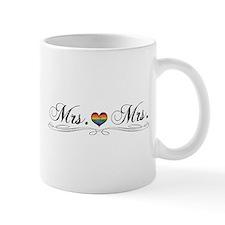 Mrs. & Mrs. Lesbian Pride Mugs