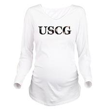USCG_flag copy.png Long Sleeve Maternity T-Shirt