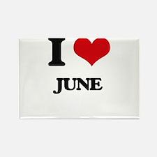 I Love June Magnets