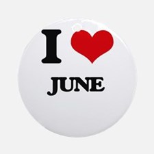 I Love June Ornament (Round)
