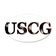 USCG_flag copy.png Oval Car Magnet