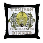 Venison its whats for dinner Throw Pillow