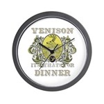 Venison its whats for dinner Wall Clock