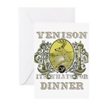 Venison its whats for dinner Greeting Cards (Packa