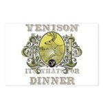 Venison its whats for dinner Postcards (Package of