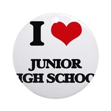 I Love Junior High School Ornament (Round)