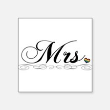 "Mrs. Lesbian Design Square Sticker 3"" x 3"""