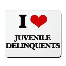 I Love Juvenile Delinquents Mousepad